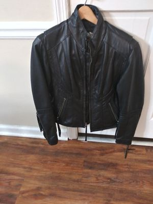 women's leather Harley Davidson Jacket. Worn once. Size small. for Sale in Marietta, GA