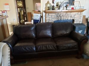 Good quality leather couch in good condition for Sale in Payson, AZ