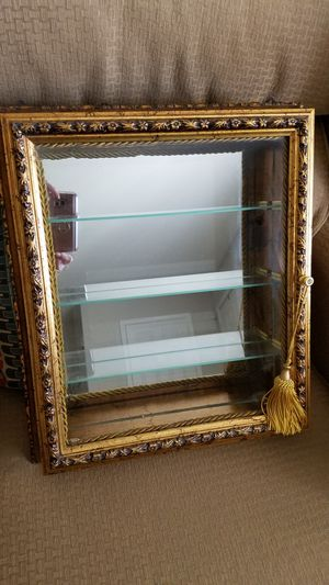 Italian-made Gold Leaf Curio Display Cabinet for Limoges Boxes for Sale in Bethlehem, PA