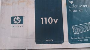 HP C4197A OEM 110V Fuser Kit, 100K. HP C4196A OEM Transfer Kit, 100K, HP C9726A 220V Fuser Kit. 75.00 a piece for Sale in Spring Valley, CA