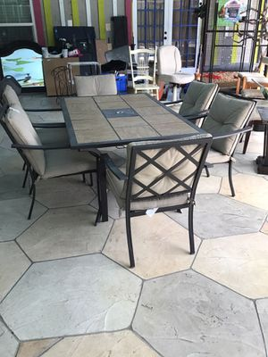 PATIO SET DINNING ROOM WITH SIX CHAIRS for Sale in Lake Worth, FL