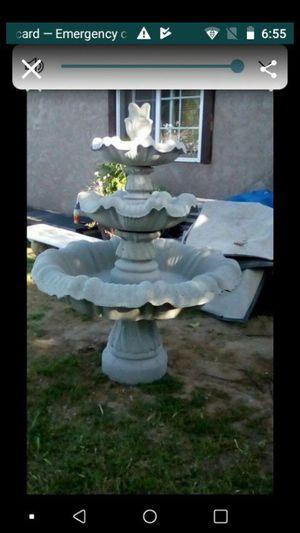 3 tier 5 ft cement fountain for Sale in Dinuba, CA