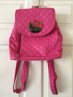Genuine Hello Kitty hot pink magnetic flap backpack for Sale in Los Angeles, CA