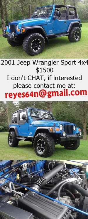 2001 Jeep Wrangler 4.0L 6 cylinder, only 93k miles, automatic for Sale in Dallas, TX
