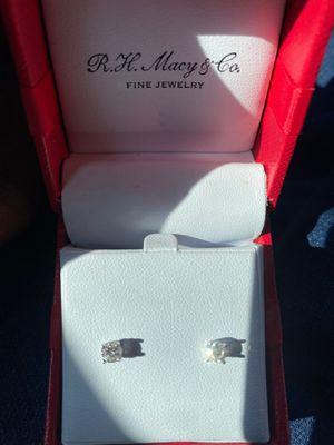 14k white gold diamond earrings from Macy's for Sale in Philadelphia, PA