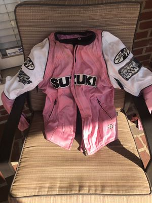 Suzuki motorcycle woman's jacket. Pink small size for Sale in Lawrenceville, GA