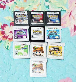 Nintendo pokemon 3ds/ds bundle Mario yoshi platinum for Sale in The Bronx, NY