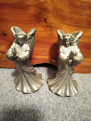 Pewter angels candle holder set for Sale in Waterbury, CT