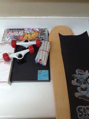 Art supplies plus skateboard for Sale in Los Angeles, CA