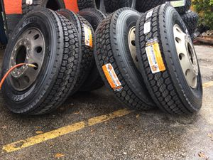 17.5 19.5 22.5 24.5 financing available commercial roadside tire service and installation drive haul steer traction trail for Sale in West Palm Beach, FL