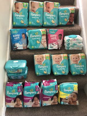 Pampers Package $6 and Wipes Package $1 - $1.50 for Sale in Omaha, NE