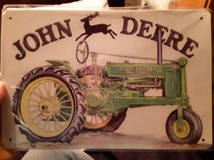 John deere tractor tin sign for Sale in Taunton, MA
