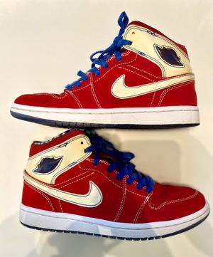 Nike air Jordan 1 Retro LS SPORT red White Blue Size 7 (315794 611) for Sale in Zachary, LA