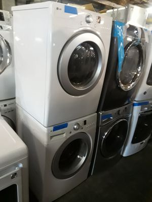 LG front load washer and dryer set excellent condition working perfectly 4 months warranty for Sale in Baltimore, MD