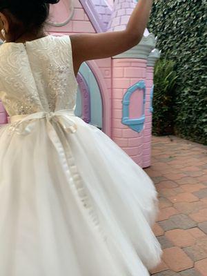 Flower girl dress/ first communion/ dress/ white dress for Sale in Anaheim, CA