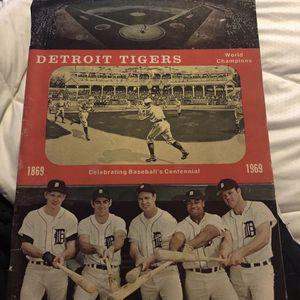 1969 Detroit Tigers Official Scorebook Program Vs. Boston Red Sox (scored) for Sale in Grand Blanc, MI
