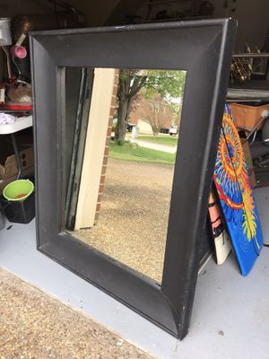 Black solid wood beveled mirror for Sale in Virginia Beach, VA