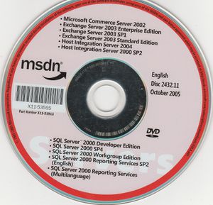 Microsoft msdn CD updates part# X11-51913 dISC 2432.11 OCT 2005 for Sale in Stockton, CA