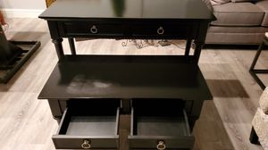 Black coffee table n couch table. for Sale in Brentwood, CA
