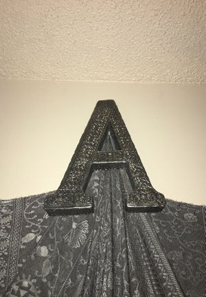 "Metal letter ""A""wall decor for Sale in St. Cloud, FL"