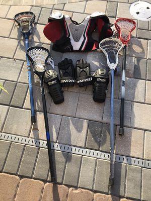 Boys Lacrosse Equipment . Sticks, pads, gloves for Sale in Merritt Island, FL