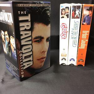 JOHN TRAVOLTA ⭐️ BOXED SET OF 3 VHS MOVIES 🍿 for Sale in Menifee, CA
