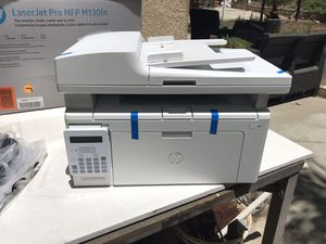 New HP Printer, Copy, Fax & Scanner - TONER NOT INCLUDED HP lasser jet pro MPF M130fn for Sale in Moreno Valley, CA