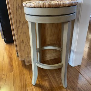 The Curated Nomad Aragon Rush Seat Swivel 30-inch Bar Stool for Sale in Portland, OR