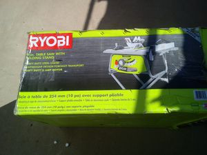 Brand new Ryobi table saw with stand 130 for Sale in Peoria, AZ