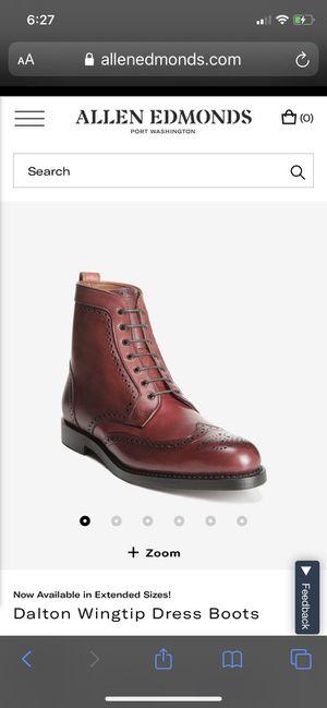 Allen Edmonds Dalton Boots- Oxblood color/ Size 12 D. for Sale in Canyon Lake, CA