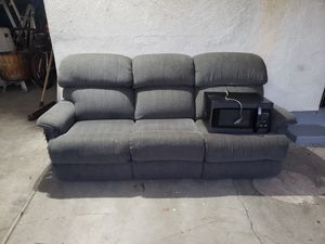 Grey reclining couch for Sale in Whittier, CA