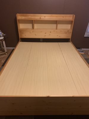 Solid Pine Queen Size captains bed with Storage for Sale in Farmington, MN