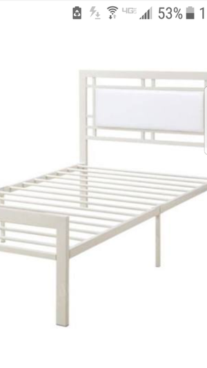 Metal white bed (twin size) for Sale in Dearborn, MI