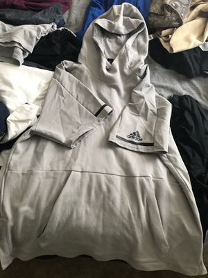 Adidas xl shirt with hoodie for Sale in Seffner, FL