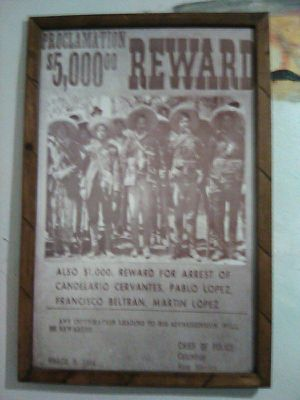 Poster Of An Antique Proclamation $5000 Reward for Sale in Hayward, CA