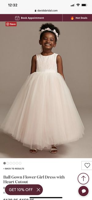 Flower girl dress David's bridal size 3 for Sale in Placentia, CA