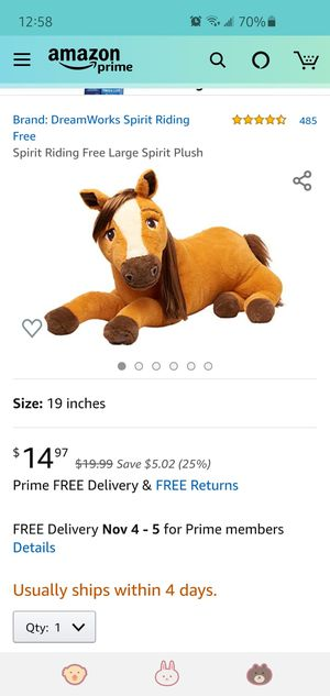 Spirit stuffed animal for Sale in Sacramento, CA