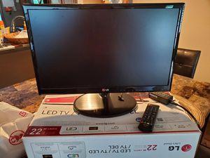 "22"" LG LED TV for Sale in Washington, PA"