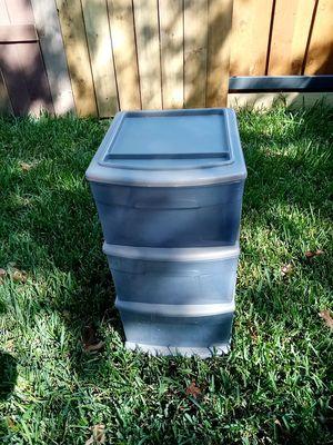 Homz three drawer plastic storage for Sale in Dallas, TX
