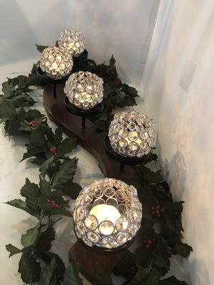 Crystal candle holder for Sale in Santa Ana, CA