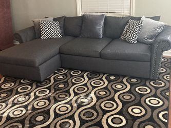 HAVERTYS SMALL/LIGHT PLUSH DENIM BLUE SECTIONAL SET $299 OBO...ALL OFFERS WELCOME!! for Sale in Atlanta,  GA