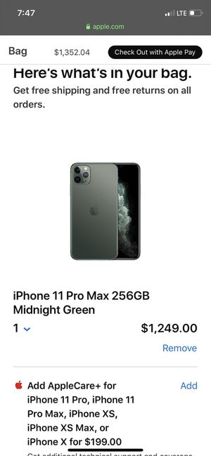 iPhone 11 pro Max 256 Midnight Green for Sale in Houston, TX