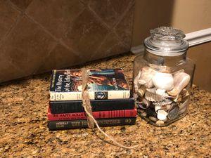 Book bundle & jar decor 15 firm for Sale in Katy, TX