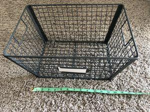 Grey/Black Metal Basket - 8x12 for Sale in SeaTac, WA
