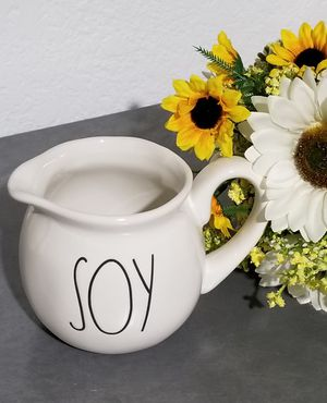 Rae Dunn SOY jug / farmhouse decor kitchen home storage for Sale in Compton, CA