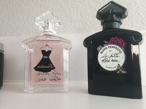 Guerlain parfum rose and black 3 4 oz each new tester $60 for all for Sale in Hickory Creek, TX