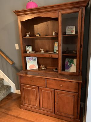 Antique Wood China Cabinet (real wood) for Sale in Frederick, MD