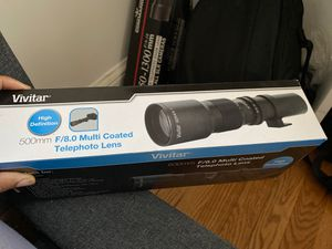 Brand New !!! Vivitar 500 mm Lens Canon for Sale in MARTINS ADD, MD