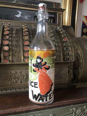 Antique glass ice water swing top bottle for Sale in Danvers, MA