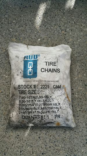 """RUD Tire Chains! Real Tough Truck / SUV Chains' 15' 16' 17"""" Tires for Sale in Auburn, WA"""